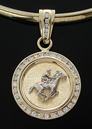 Gold Diamond Thoroughbred Coin