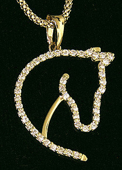14kt Yellow Gold Horse Head