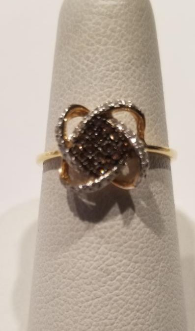 14kt yellow gold chocolate ring