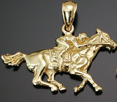 Gold Thoroughbred Pendant