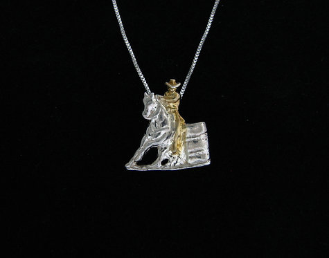 Sterling Silver Barrel Racer