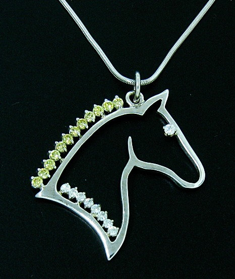 Silhouette Horse Head Pendant