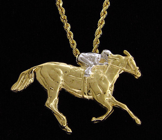 14kt Yellow Gold Thoroughbred Pendant