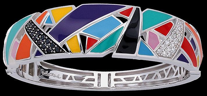Sterling Silver Inlaid Enamel Bracelet