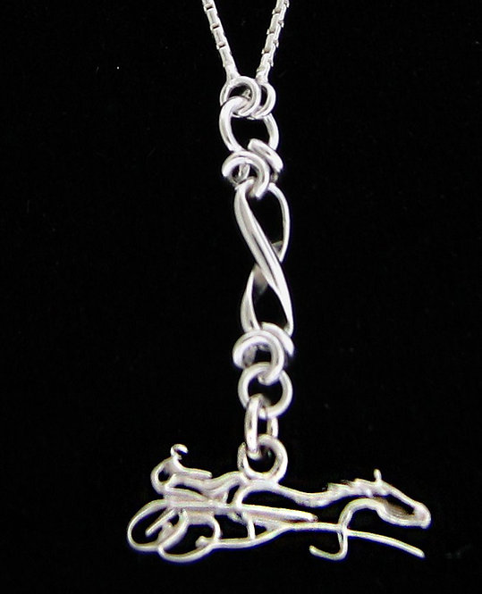 Sterling Silver Infinity Sulky Necklace