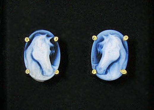 Cameo Post Earrings