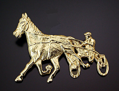 Standardbred 14kt Broach