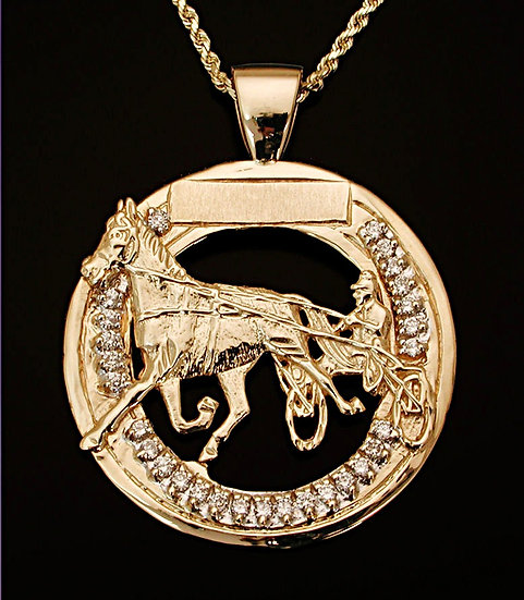 Standardbred Gold Pendant with Diamonds