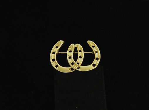 14kt Yellow Gold Horseshoe Broach/Pin