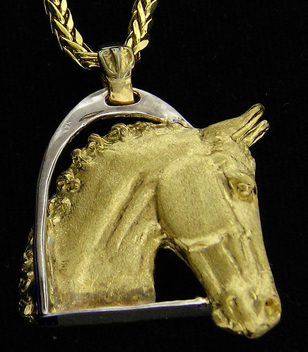 14kt Yellow Gold Horse Head Pendant