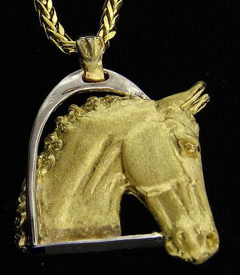 14kt Yellow Gold Horse Head Pendant