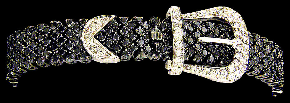 14kt White Gold Diamond Buckle Bracelet