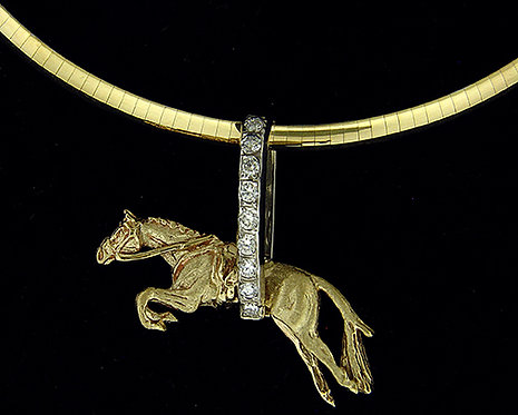 14kt Yellow Gold Horse Pendant