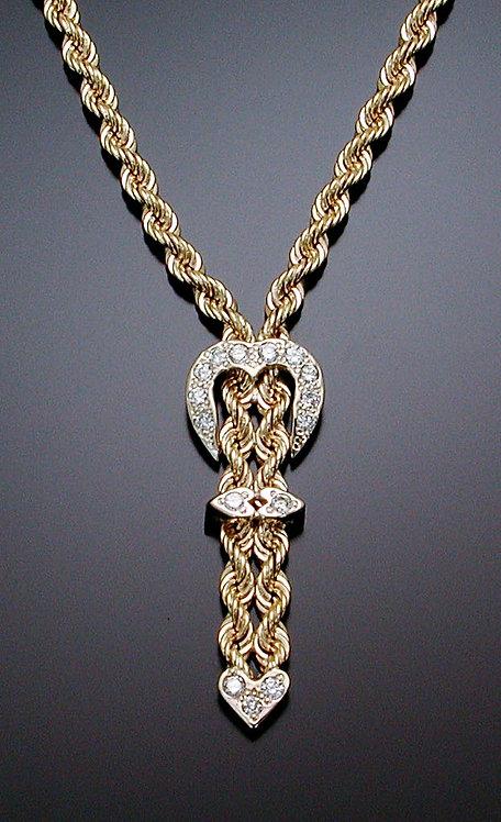 Diamond Gold Belt Necklace