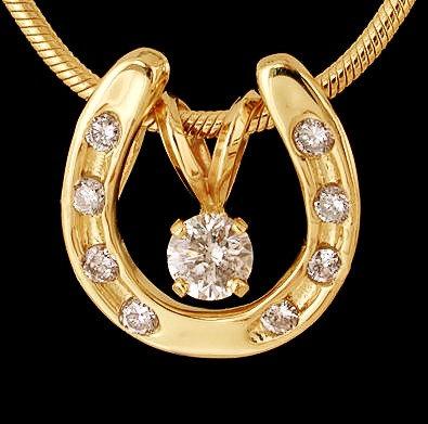 Diamond Horse Shoe Pendant