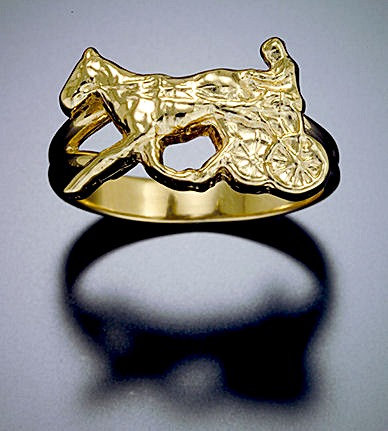 Standardbred Yellow Gold Ring
