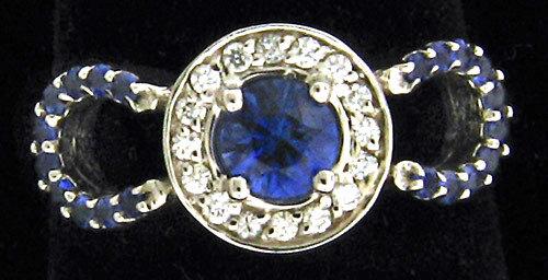14kt Sapphire Horseshoe Ring