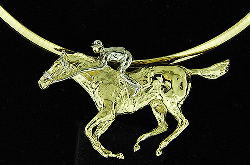 14kt Yellow Gold Thoroughbred Penad
