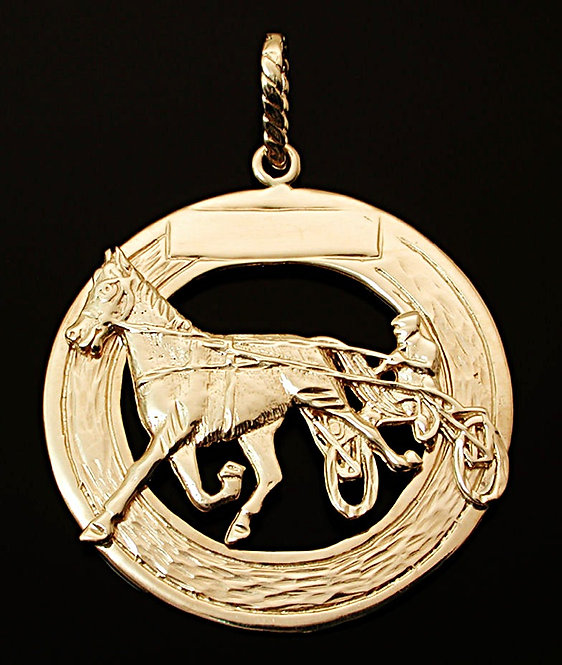 Standardbred Yellow Gold Pendant