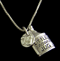 LIMITED EDITION Little Brown Jug 75th Anniversary Jug Pendant