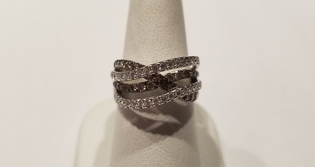 14kt White Gold Chocolate Ring