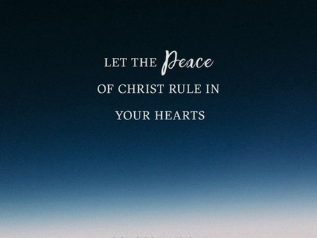 As we pour out our bitterness, God pours in his peace.