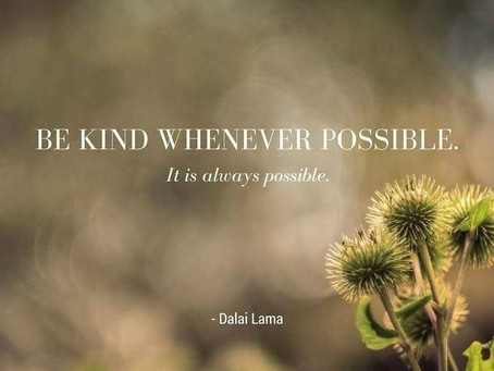 Kindness is always fashionable, and always welcome.