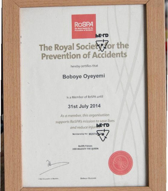 The Royal Society For The Prevention of Accidents