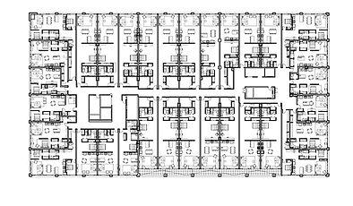 Plan projet FABRIQUE 125 par Forme Studio Architecture