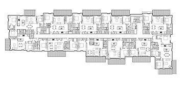 Plan projet CARRÉ SOHO par Forme Studio Architecture