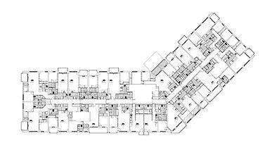 Plan niveau type MOSTRA par Forme Studio Architecture