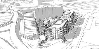 Sketchup projet KUBIC POINTE CLAIRE par Forme Studio Architecture