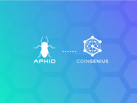 Aphid Partners with Blockchain Industry Leader – CoinGenius
