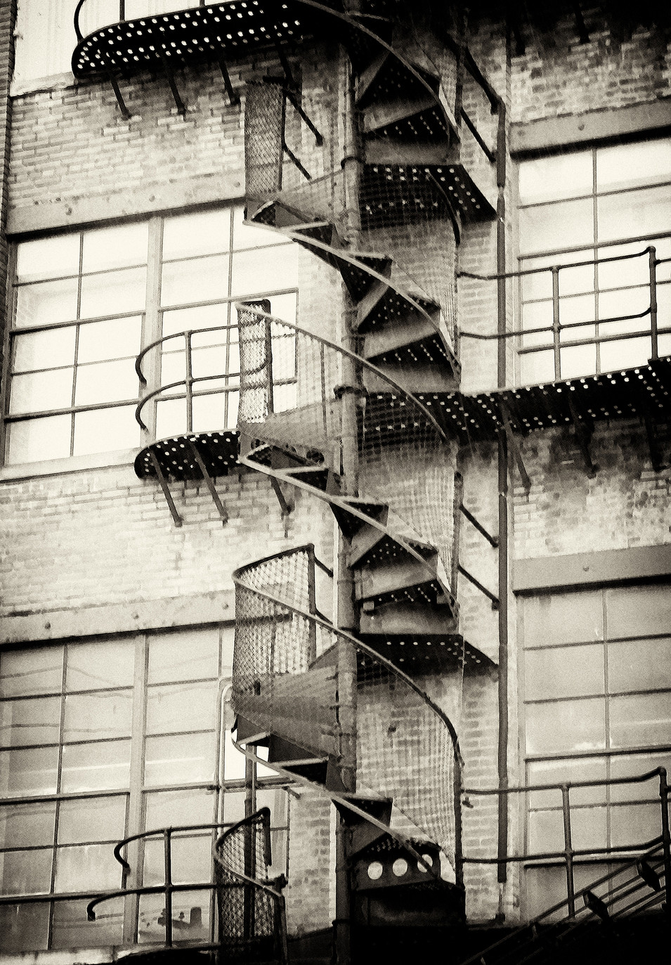 FIRE ESCAPE IN SEPIA