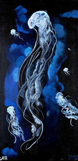 """""""Deep Blue Jellies"""" by Alfred Banks"""