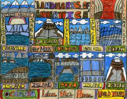 """Landmarks of Antarctica"" by Adam Hines"