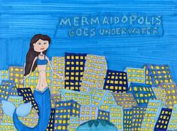 """""""Mermaidopolis Goes Underwater"""" by Stephon Doby"""