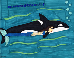 """""""Delphine and Orca"""" by Stephon Doby"""