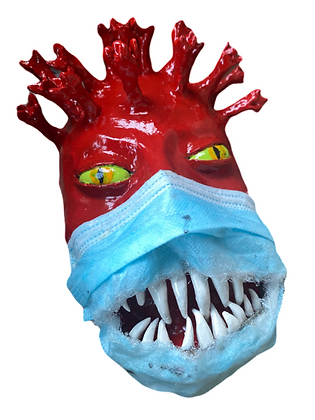 """Mask of the Red Death"" by Cherylle Booker"