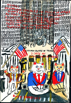 """Cats at the Chicago Board of Trade"" by Ruby Bradford"