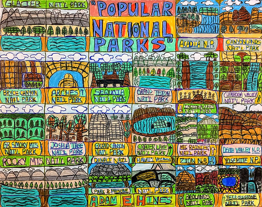 """""""Popular National Parks"""" by Adam Hines"""