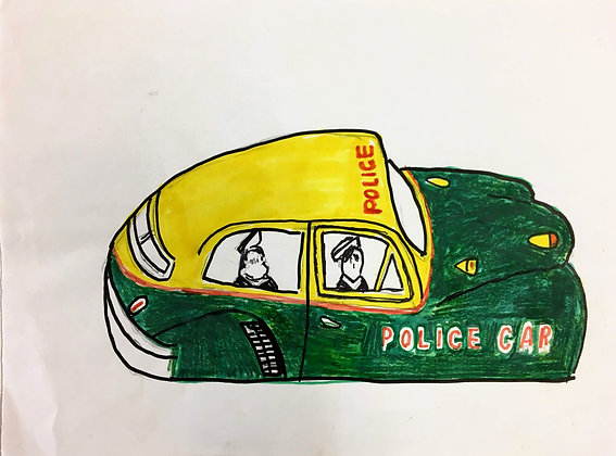 """Vintage Police Car"" by Ricky Willis"