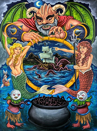 """Poseidon's Cauldron of Souls"" by Fernando Ramirez"