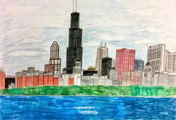"""Chicago Skyline"" by Ricky Willis"