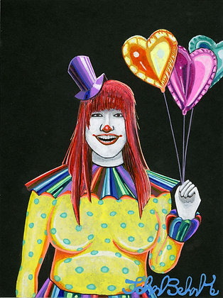 """Clown Woman"" by John Behnke"