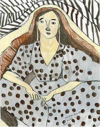 """Polka Dot Woman"" by George Zuniga"