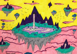 """""""Sky Waterfalls"""" by Jason Harris"""