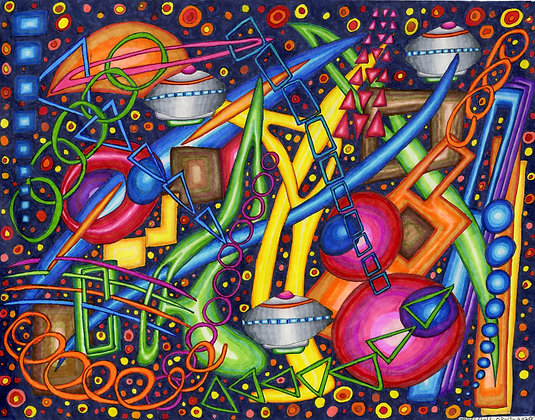 """""""Space Junk in a Time Warp"""" by James Hall"""