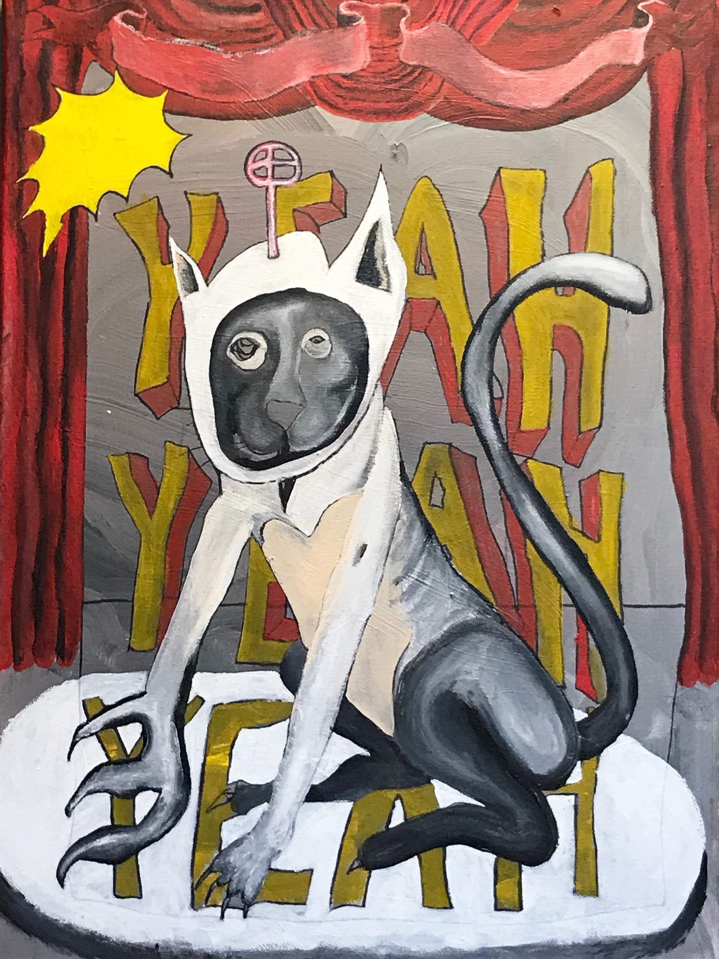 """""""Yeah Cat"""" by Luke Shemroske"""