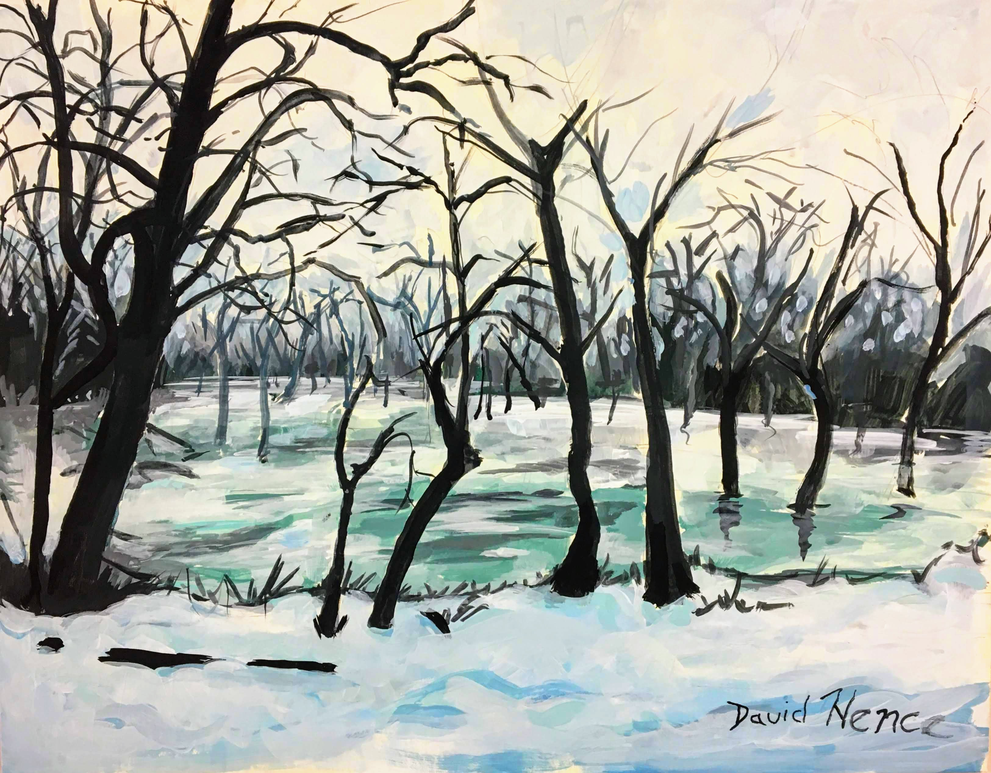 """Snowy Trees"" by David Hence"